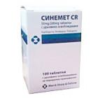 Синемет CR 50мг/200мг (100таб)