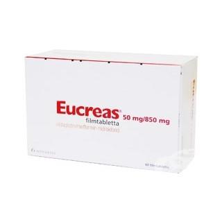 Эукреас (Eucreas) 50мг/850мг (60шт)